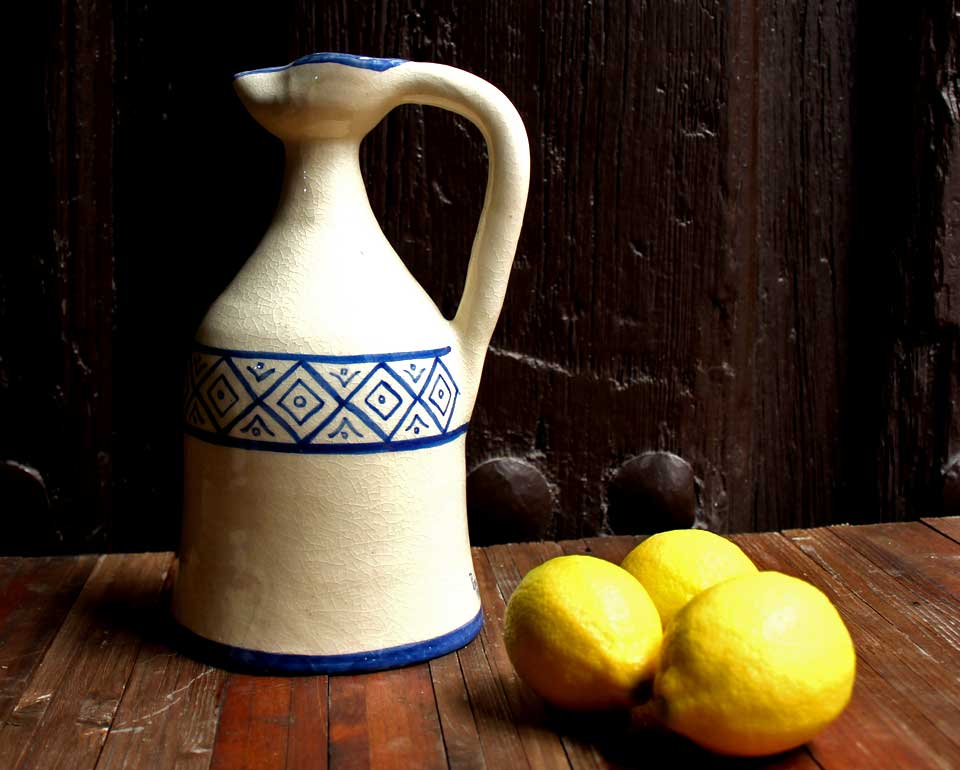 Alcuza cerámica rombos