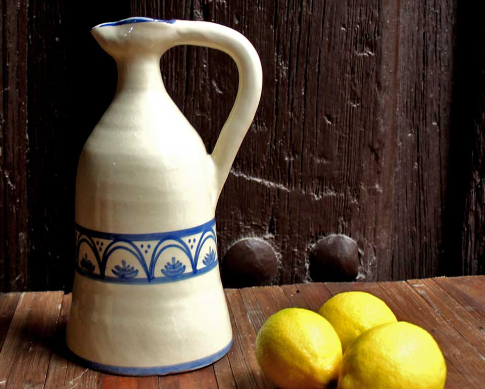 Alcuza cerámica nenúfar