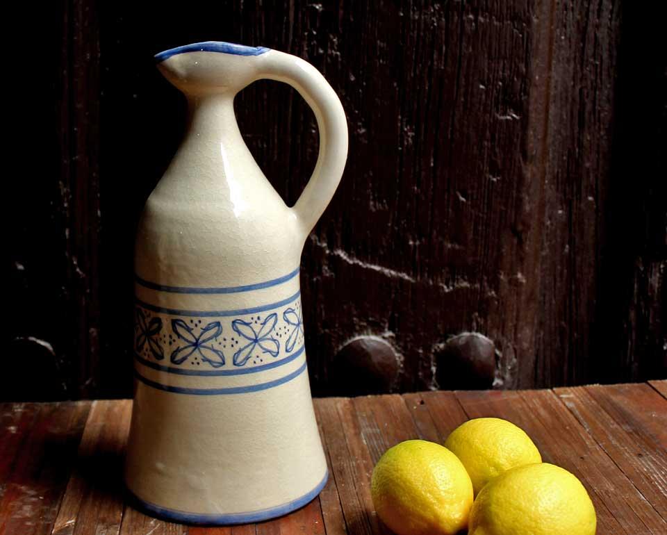 Alcuza cerámica flor