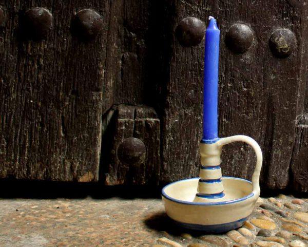 Palmatoria cerámica siglo XVII