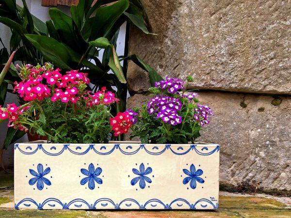 Jardinera rectangular cerámica Baeza